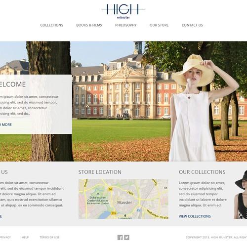 Fashion Website Design Needed Web Page Design Contest 99designs