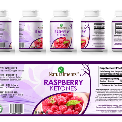 Create A Slick Product Label For Raspberry Ketones Health