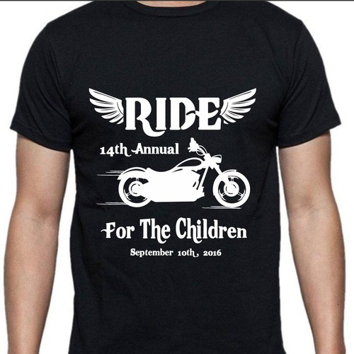 Charity Motorcycle Ride T Shirt Design T Shirt Contest