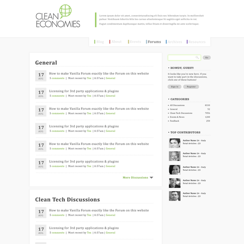 Diseño finalista de webdesign3r