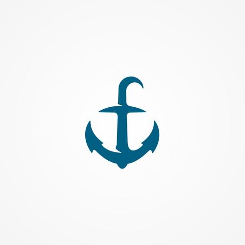 stylish anchor logo for digital media company logo