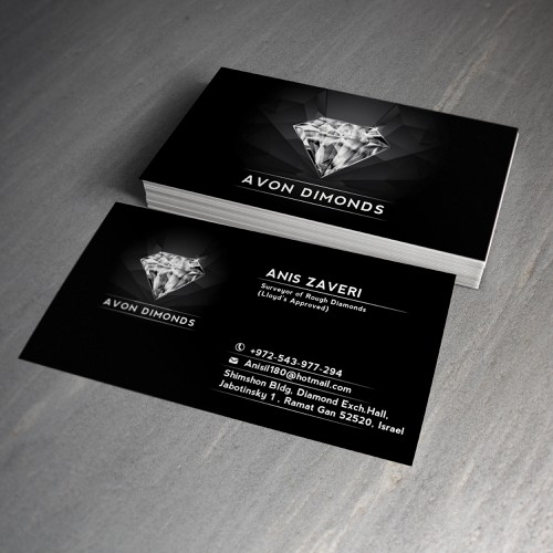 High class business card for diamond consultant business card contest runner up design by dusco colourmoves