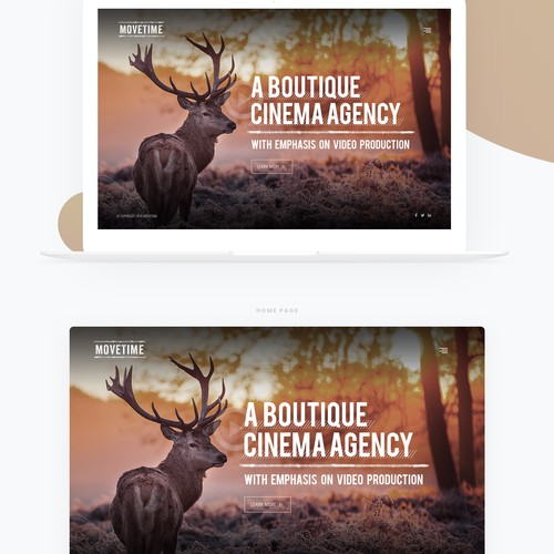 Video Production Company Website // Simplistic Design Design by FuturisticBug