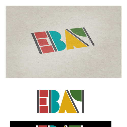 99designs community challenge: re-design eBay's lame new logo! Diseño de Dalmartian