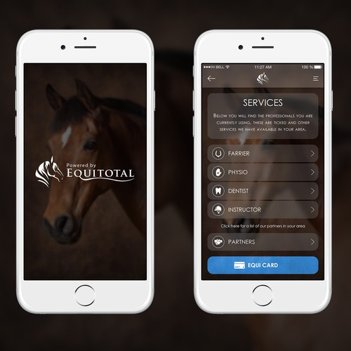 Redesign customer app for equine professionals simple for Easy app design