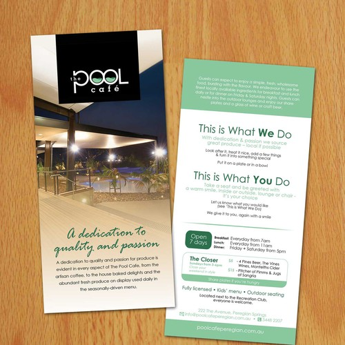 The Pool Cafe, help launch this business Diseño de jay000