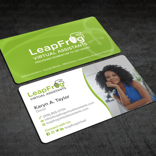 Design A Business Card That Leaps In Creativity Front Back