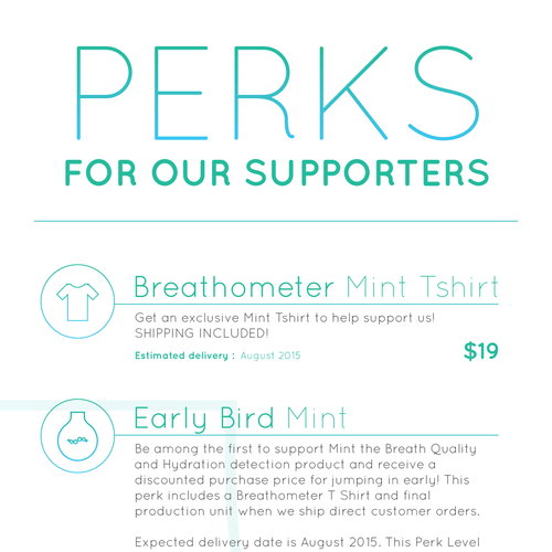 4 HOUR CONTEST - Mint by Breathometer - Indiegogo campaign banner design! Design by Sebastian Roy