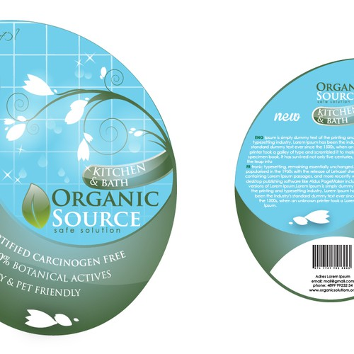Create the next print or packaging design for organic for Design source limited
