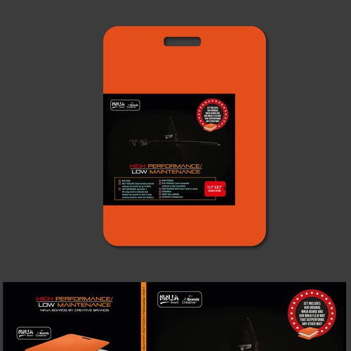 Ninja cutting board product leaflet Design by hoydontpanic