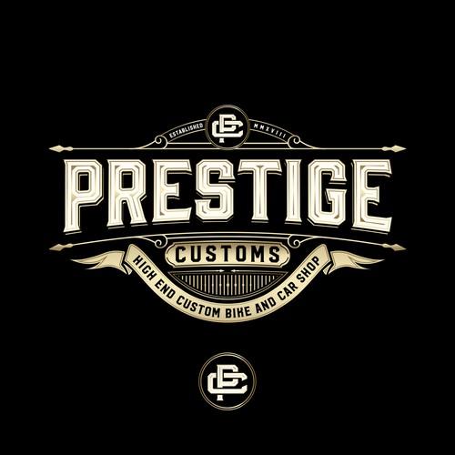 Logo For Prestige And High Performance Custom Bike And Car Shop