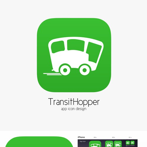 App Icon for iPhone and Apple Watch (Public Transport