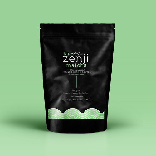 Japanese Matcha Product Needs Label - *GUARANTEED & BLIND* Design by GREYYCLOUD