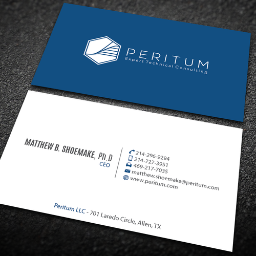 Peritum business cards business card contest runner up design by an designer reheart Gallery