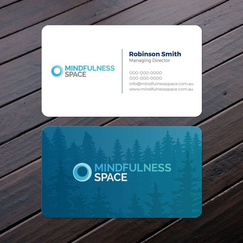 Mindfulness space business card business card contest runner up design by felix sh colourmoves Image collections
