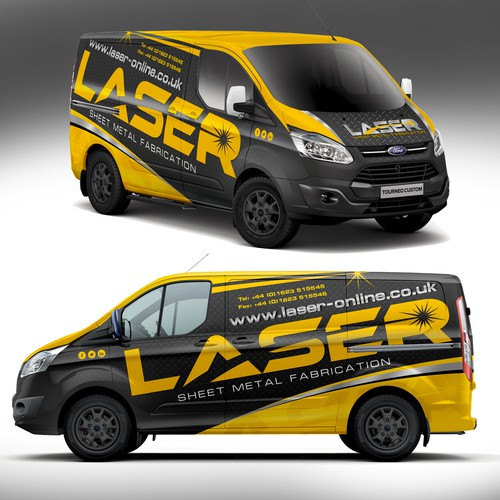 Eye catching visually stunning vehicle wrap for Laser Ltd | Car