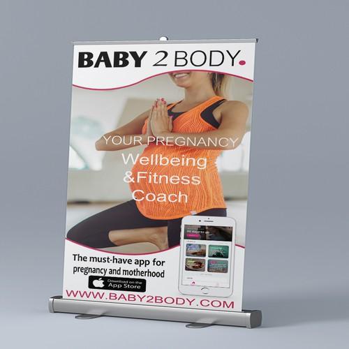 Pregnancy app Roller Banner | Signage contest