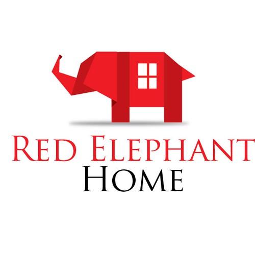 Create the next logo for Red Elephant Home | Logo design contest on elephant art, elephant furniture, elephant bathroom, cat design home, elephant logo design, elephant graphic design,