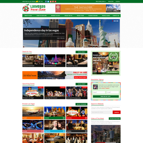 Build A World Class Las Vegas Website Experience Web Page Design Contest 99designs