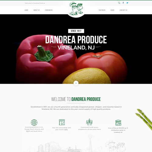 101 year old produce company needs a website to go another 100 Design por Simplest™