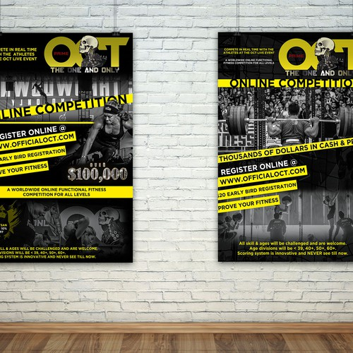 Online CrossFit Event Poster | Postcard, flyer or print contest