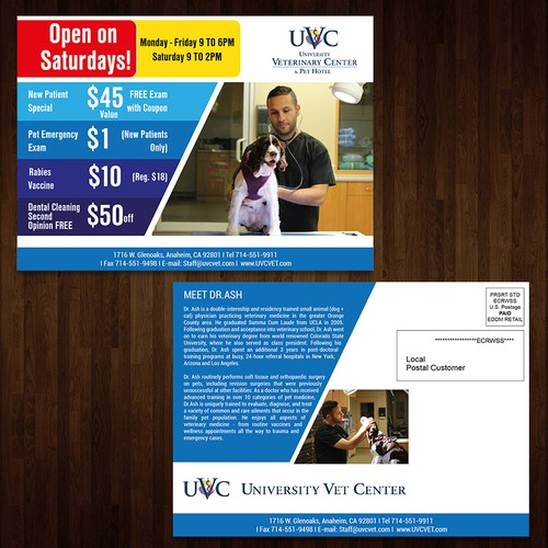Postcard for NEW State-Of-The-Art Vet Hospital Design by Creativeworx786