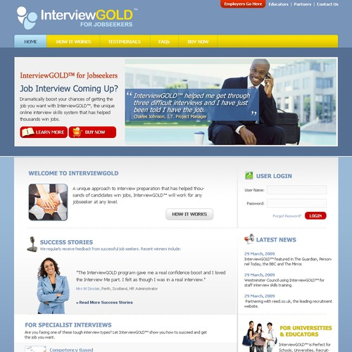 Home Page Re Design For Job Interview Website Web Page Design Contest 99designs