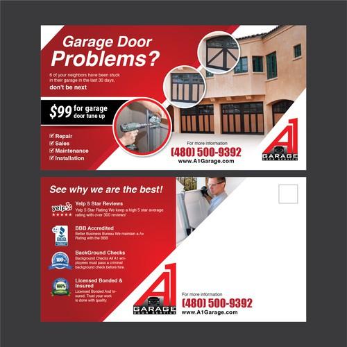 Create A 11 X 6 Garage Door Flyer Postcard Flyer Or Print Contest