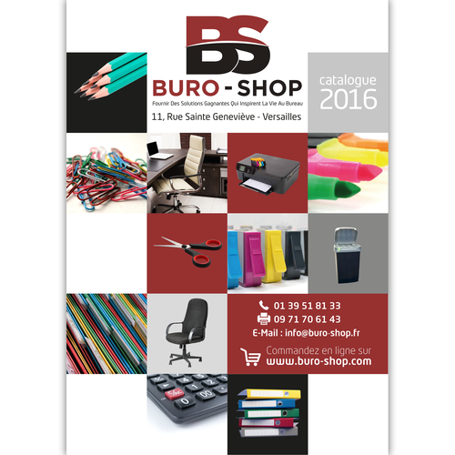 Cr er la page de garde du catalogue buro shop 2016 for Buro plus catalogue