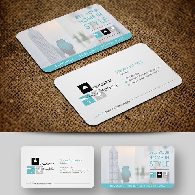 Business card newcastle home staging business card contest business card newcastle home staging winning design by artomorosigns colourmoves