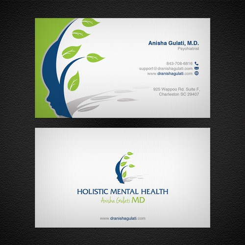 Psychiatrist business card business card contest runner up design by upwork colourmoves
