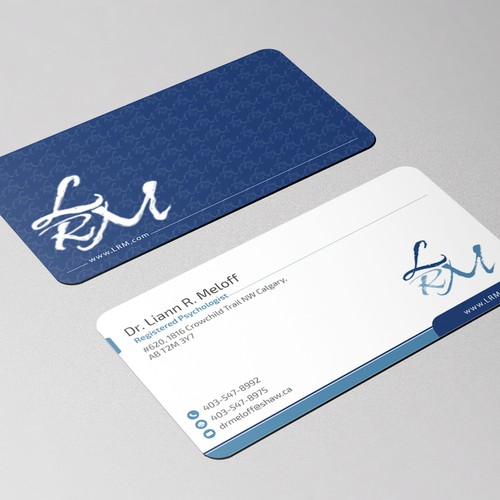 Create a standout business card for a professional psychologist runner up design by hs designer colourmoves