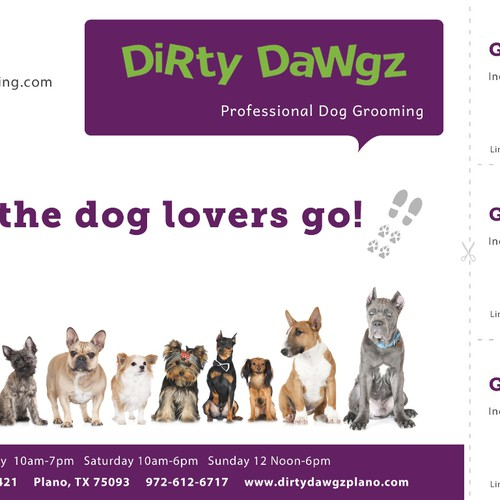 Create an ad for Dirty Dawgz Ontwerp door Alexinchains