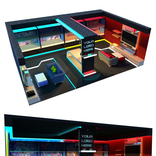 Gaming Room Best Setup 3d Contest 99designs