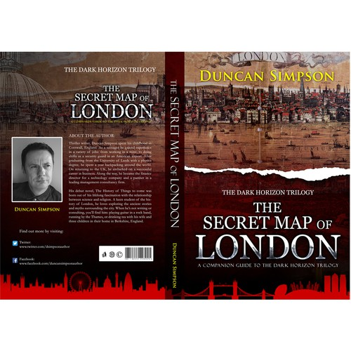 Book Cover Design London : Cover for the secret map of london book contest