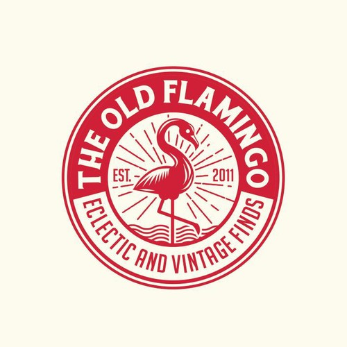 Create hip logo for THE OLD FLAMINGO that specializes in eclectic, vintage, upcycled furniture finds Design by Wintrygrey