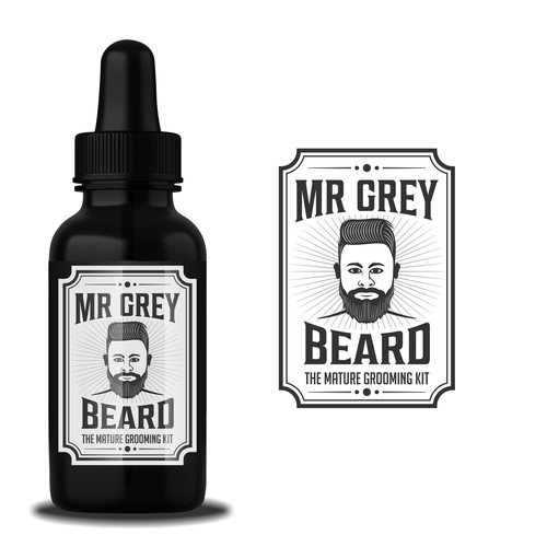 design a trendy hipster beard grooming kit logo for the mature grey beards logo design contest. Black Bedroom Furniture Sets. Home Design Ideas