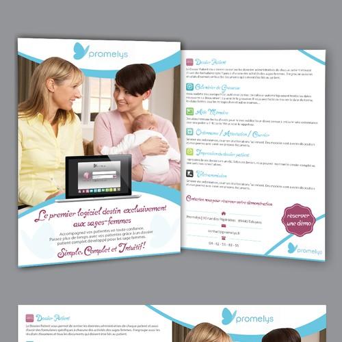 flyers encart publicitaire pour un logiciel de sant. Black Bedroom Furniture Sets. Home Design Ideas
