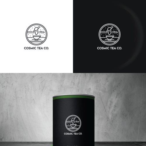 Cosmic Tea Co. - Blending Science and Tradition Design von 4ANGEL STUDIO