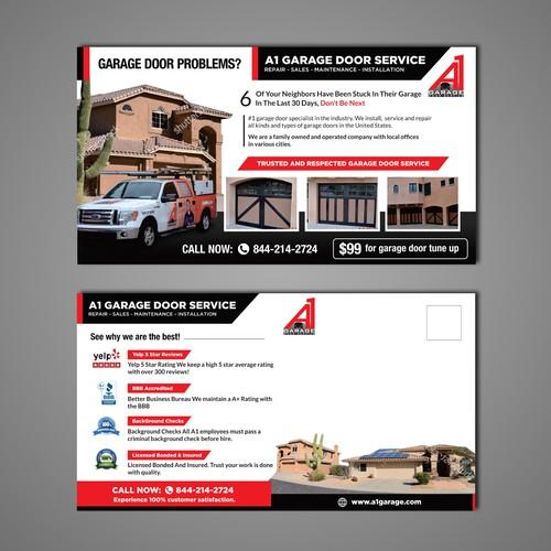 Create A 11 X 6 Garage Door Flyer Postcard Flyer Or
