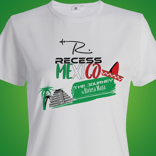 Travel group needs a dynamic t shirt design for mexico for T shirt design contest flyer