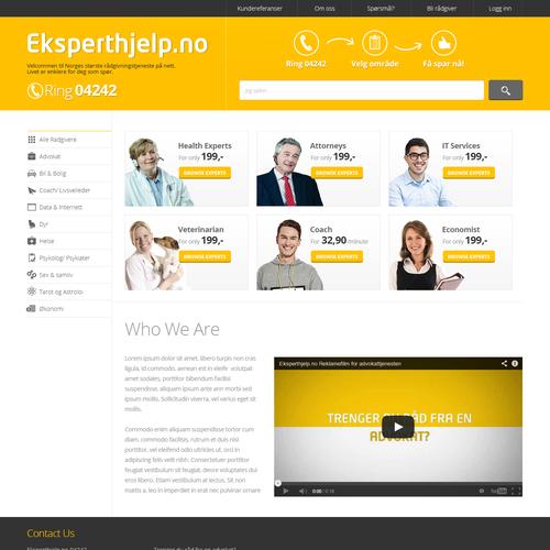 Website design for eksperthjelp 04242 as | Web page design