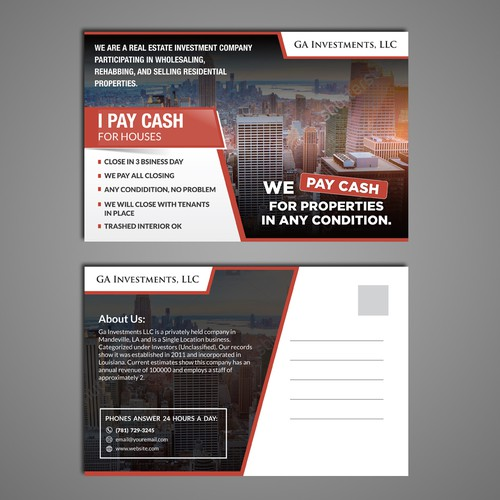 Need eyecatching postcard for real estate marketing postcard runner up design by dzhafir reheart Choice Image