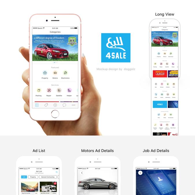 Largest Classified App in Kuwait Redesign | concurso Diseño de App