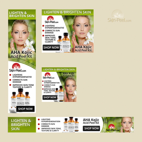 Create A Banner Ad Skincare Product Focused Banner Ad Contest 99designs