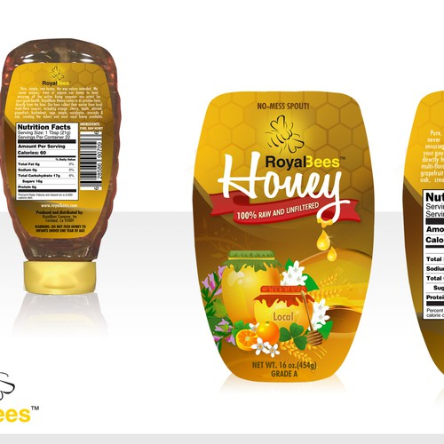 Honey Label Front Back For Royal Bees Company Inc Print Or