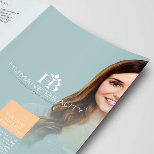 Product Tri Fold Brochure: UPDATED: Humane Beauty New Product Tri-Fold Brochure