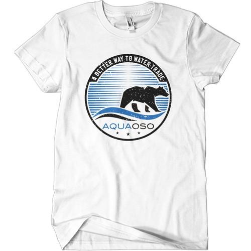 Design Minimalist Retro Tshirt For Water Software Startup