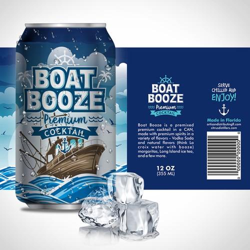 Boatbooze Label Design Cool Fun And Creative Freedom Alcohol