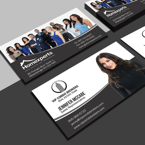 Real estate team business cards business card contest runner up design by vincent tesoro reheart Image collections